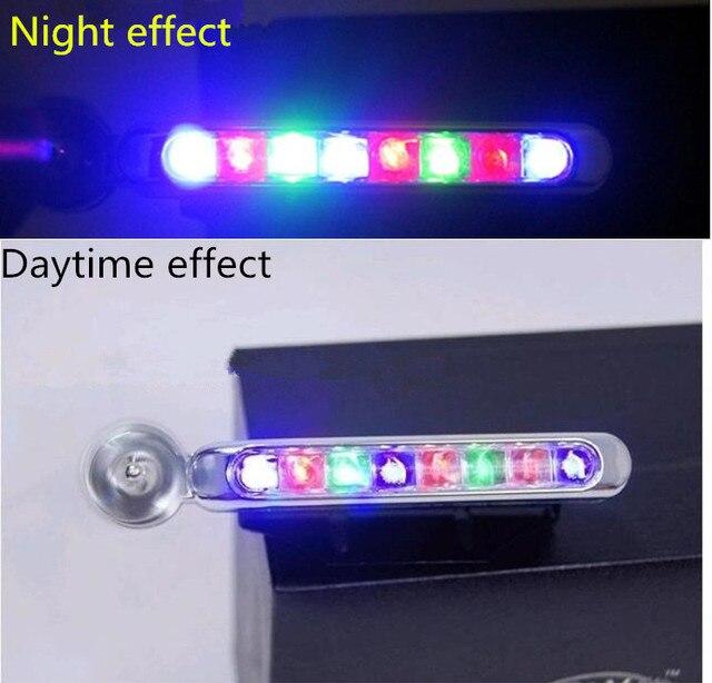 2 paar 8 x LEDs Keine Verdrahtung Wind Power Grille Fahrzeug Lichter ...