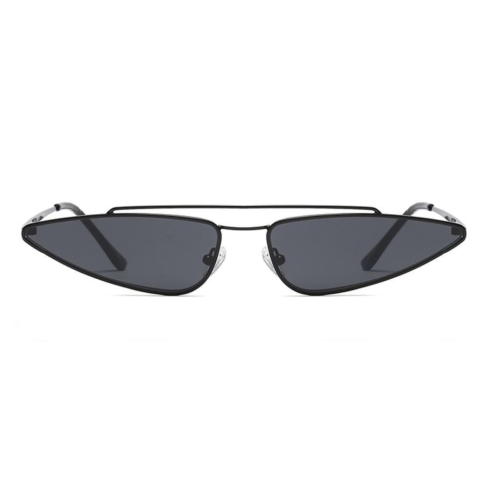 Peekaboo pequeno triângulo óculos de sol mulheres marca de designer de  metal ouro rosa presente uv400 olho de gato preto dos óculos de sol para as  mulheres ... 438be97c14