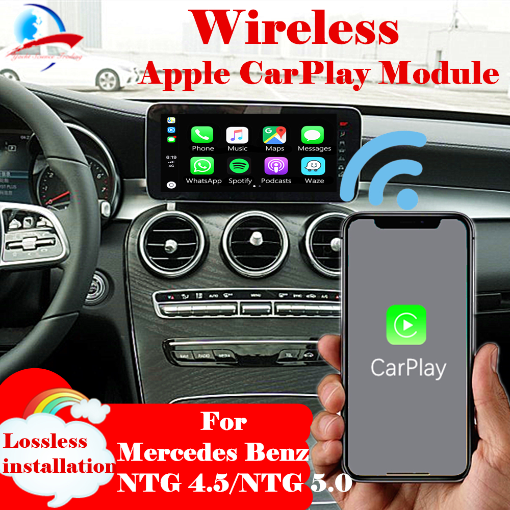 Wireless Apple CarPlay Android Auto Box Module For All Mercedes Benz NTG4.5 /NTG 5.0 System W204 W205 W212 W176 W246 W253 Class
