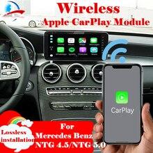 وحدة صندوق السيارة اللاسلكية Apple CarPlay التي تعمل بنظام أندرويد لجميع أنظمة Mercedes Benz NTG4.5/NTG 5.0 W204 W205 W212 W176 W246 W253
