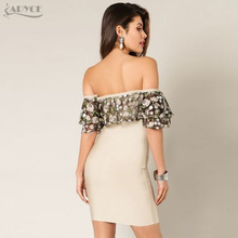 Adyce 2018 New Women Spring Bandage Dress Butterfly Sleeve Slash Neck Lace Vestidos Embroidery Floral Chinese Style Mini Dresses