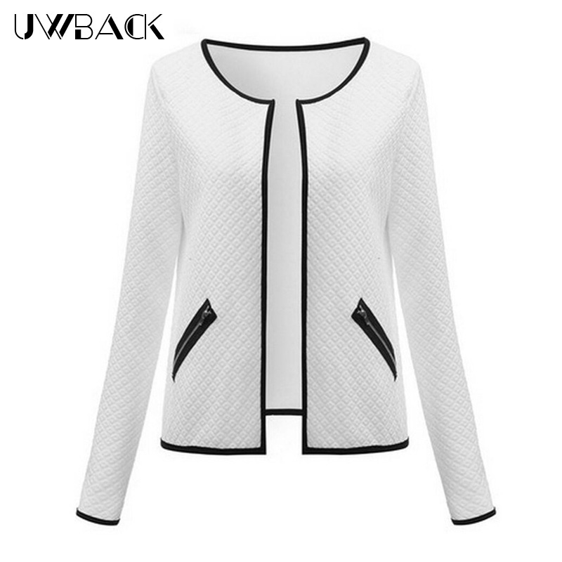 Uwback 2017 nueva marca chaquetas de invierno de las mujeres chaqueta corta prim