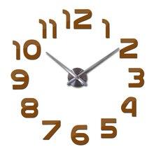 Quartz Big DIY 3D Mirror Sticker Wall Clock Decor