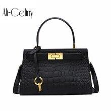 Новая женская сумка Новая корейская модная крокодиловая сумка Джокер сумка через плечо сумка-мессенджер
