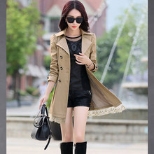 Autumn Fashion Brand Trench Coat Woman Vinatge Double Breasted Trench Coat For Women Business Outerwear Coat