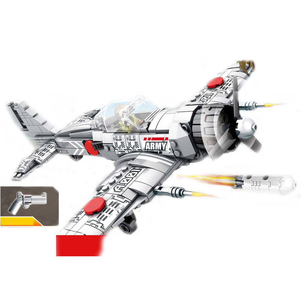 hot military World War II army war Japanese zero fighter MOC Building Blocks figure model brick education toys for children gift