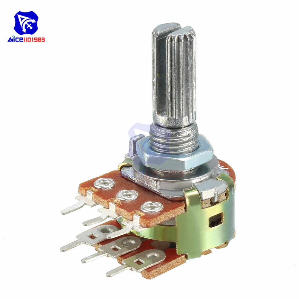 5 PCS/Lot Potentiometer Resistor 1K 2K 5K 10K 20K 50K 100K 500K Ohm WH148 6 Pin Linear Taper Rotary Potentiometer for Arduino