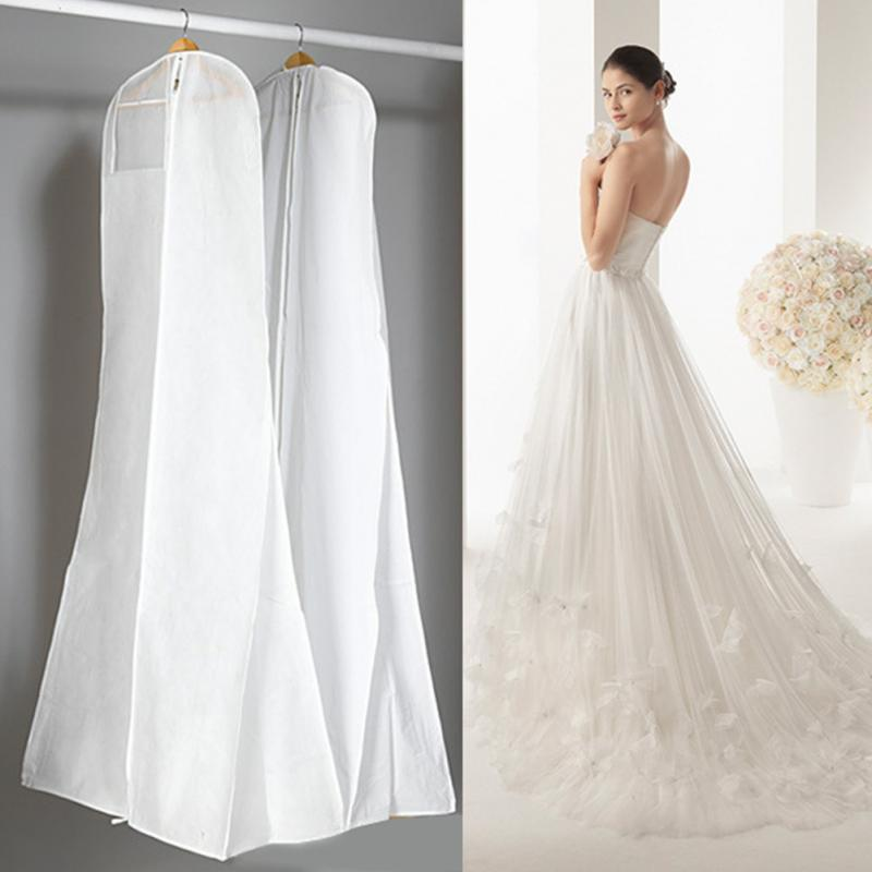 1.8 M Professional Wedding Dress Non-woven Acrylic Fibers Fabrics Gown Extra Large With Storage Bag Dust Cover Hang Pouch