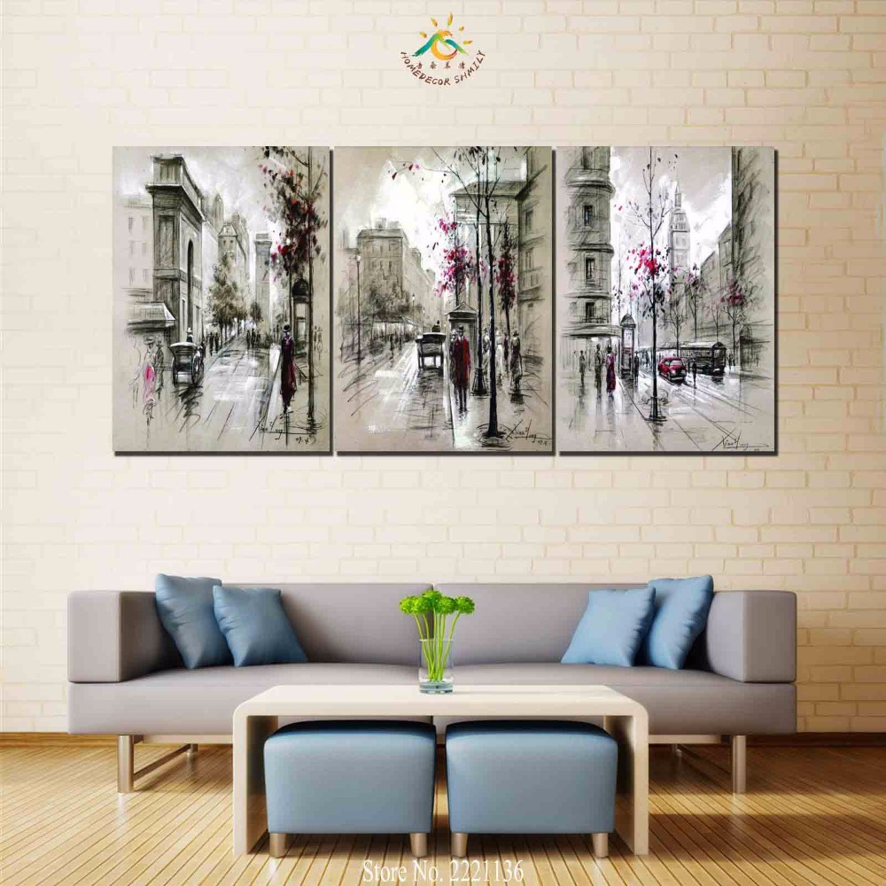5 Pieces/set HD Printed Africa Elephants Landscape Group Painting Room Decoration for Living Frameless