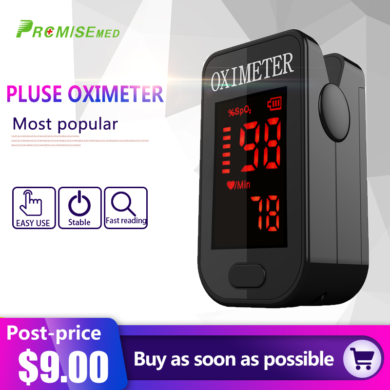 Household Health Monitors Oximeter CE Medical Heart Rate Monitor LED Fingertip Pulse Oximeter Finger Blood Oxygen-Cool Black(China)