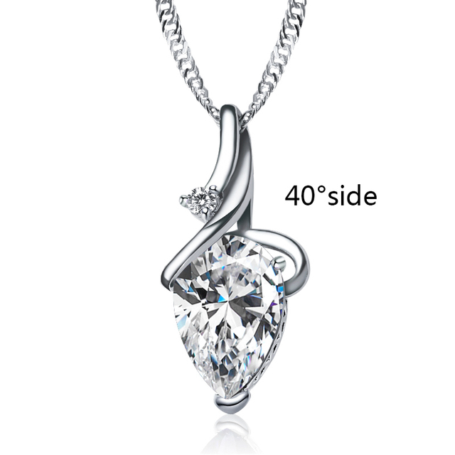 SHUANGR Women 3 Colors Crystal Rhinestone Drop Silver Color Chain Necklace Pendant For Women Jewelry Statement Bijouterie Gift 3