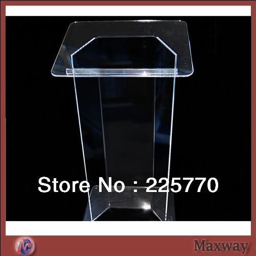 Novel Acrylic Lectern Podium  Best Selling Cheap Knockdown Acrylic Lectern Plexiglass