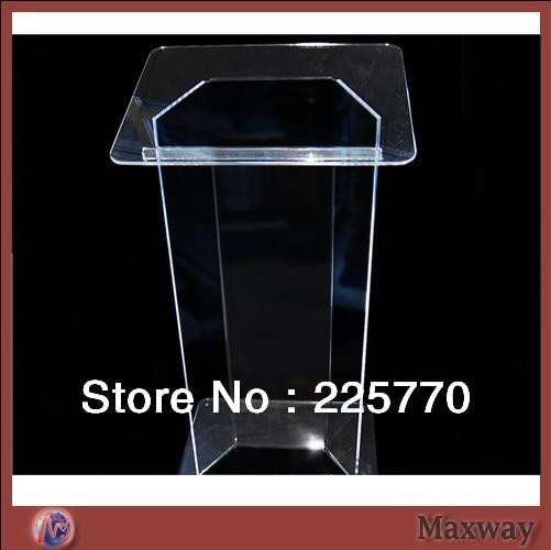 Novel Acrylic Lectern Podium  Best Selling Cheap Knockdown Acrylic Lectern Plexiglass