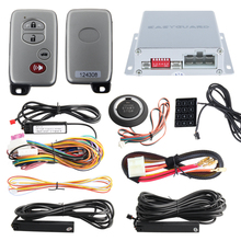 PKE psssive keyless entry car alarm system with auto start & push button start stop touch password entry auto lock unlock