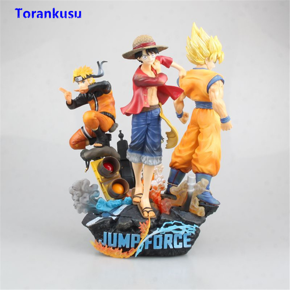 Game Jump Force Anime One Piece Naruto Dragon Ball Action Figure Figurine PVC Luffy Goku Naruto Figuras Anime Toys Diorama Model image