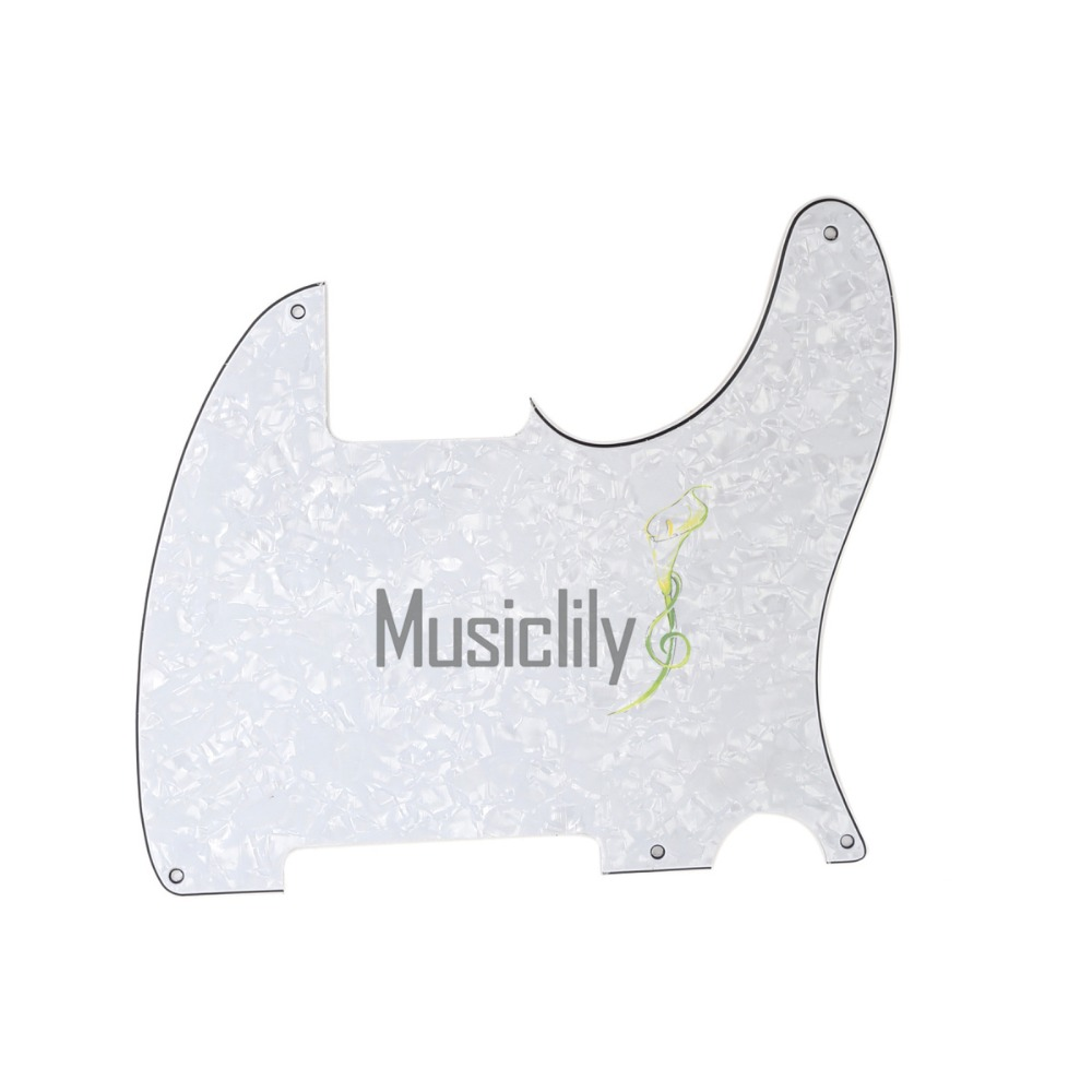 Musiclily Multiple Color 4ply 5 Holes Guitar Pickguard Pick Guard Scratch Plate for Fender Tele Telecaster Esquire musiclily 3ply 290 435mm electric guitar bass pickguard material pick guard scratch plate sheet blank