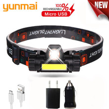 12000LM ที่มีประสิทธิภาพไฟหน้า XPE + USB ไฟหน้าแบบชาร์จไฟได้ในตัวแบตเตอรี่กันน้ำไฟไฟฉาย Camping โคมไฟ