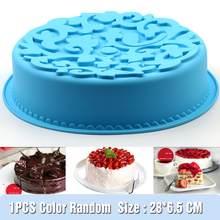 Sartén para pastel redondo de silicona, antiadherente utensilio para hornear, molde para hornear de 11 pulgadas, decoración de tartas caseras, muffins, tartas, Pan de carne, 1 Uds.