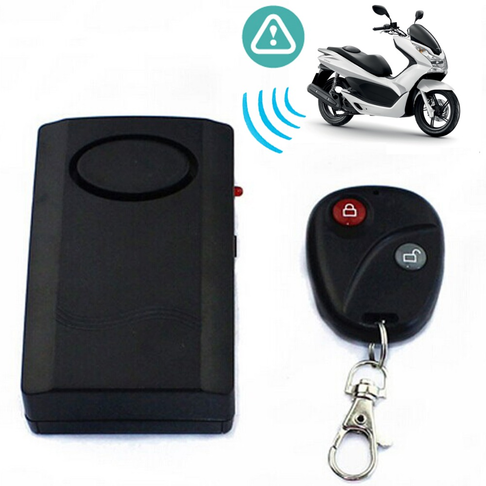 Motorcycle Safety Alarm Remote Vibration Motorbike Anti Theft Sensor Control Security Car Divice