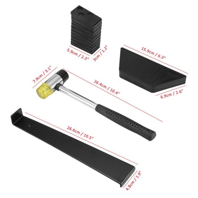 1 barra de tracci/ón Juego de 23 piezas de instalaci/ón de suelos de madera laminada con espaciadores de mazo con 20 espaciadores Asdomo 1 bloque de roscado y 1 mazo