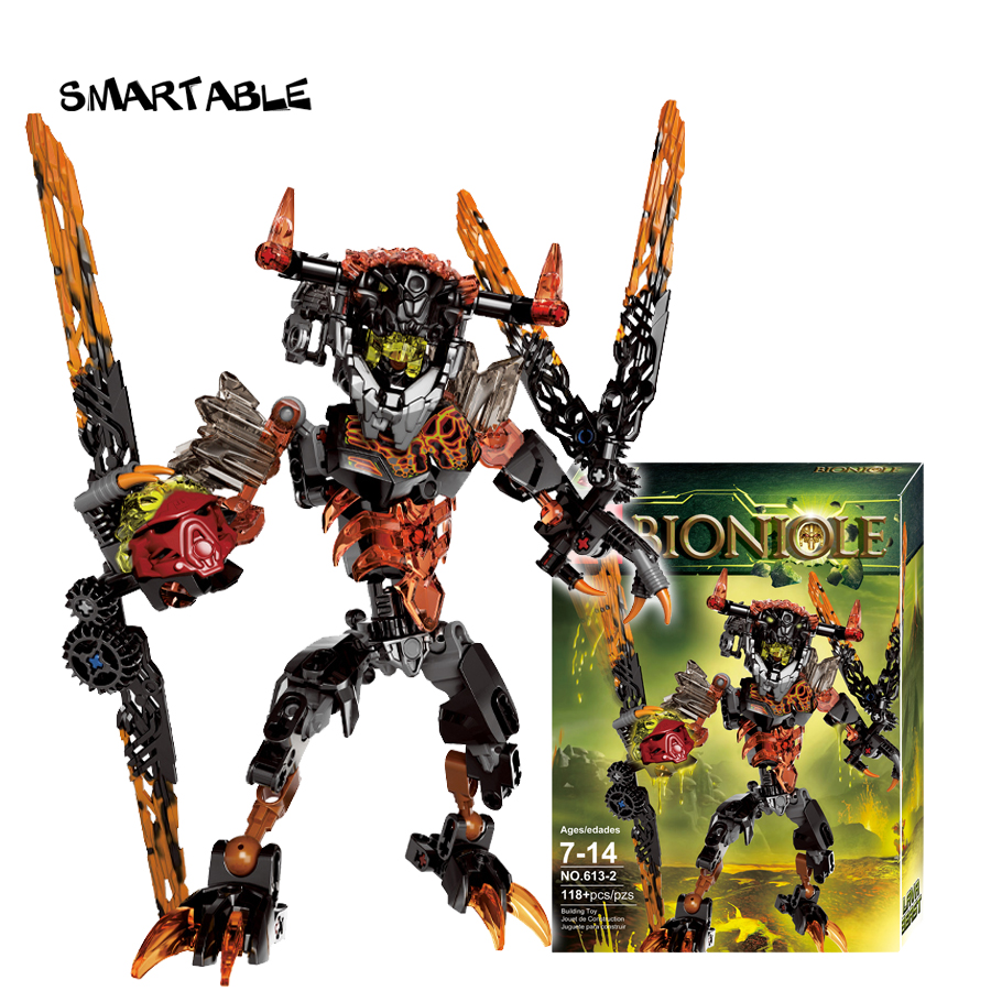 Smartable BIONICLE 118pcs Lava Beast figures 613-2 Building Block toys Compatible legoing BIONICLE LEPIN Gift lepin 22001 pirate ship imperial warships model building block briks toys gift 1717pcs compatible legoed 10210