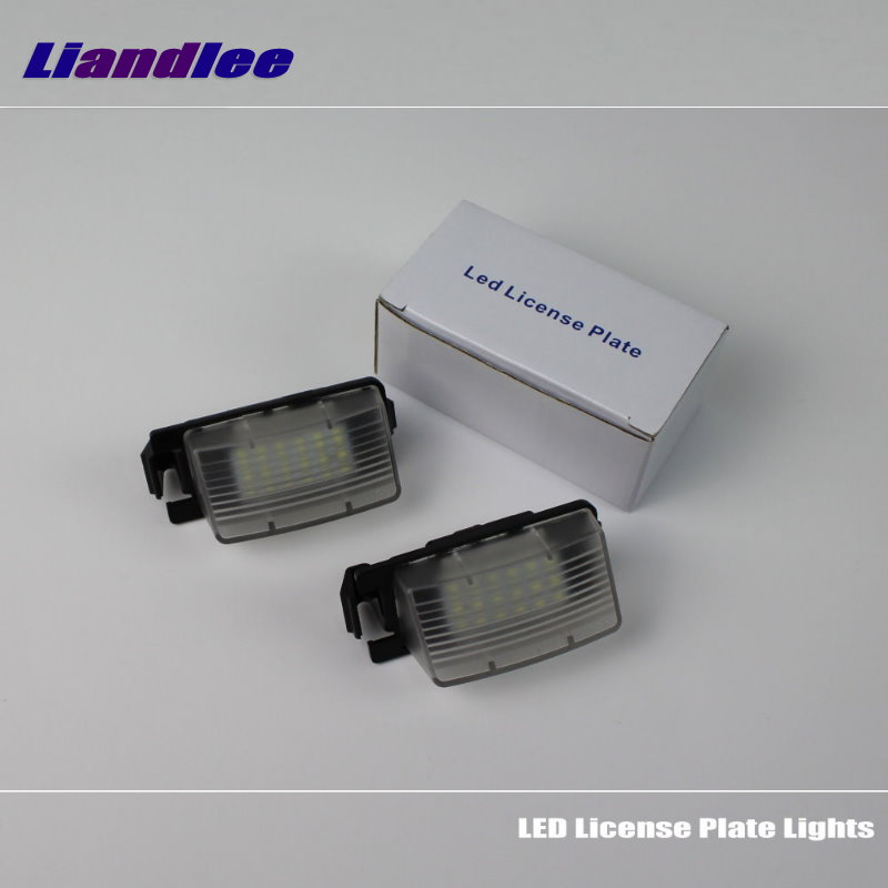 Liandlee For Nissan 350Z / 370Z Fairlady Z Skyline LED Car License Plate Light Number Frame Lamp High Quality Lights
