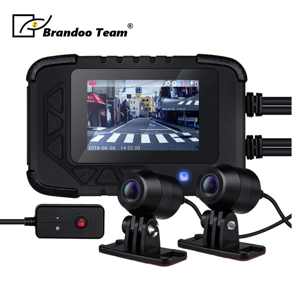 1080P GPS Waterproof Motorcycle Camera DVR Motor Dash Cam Dual-track Front Rear Recorder Motorbike Electronics,built-in G-sensor