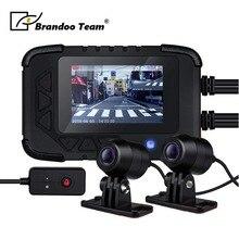 1080 P gps водонепроницаемый мотоцикл камера DVR мотор Dash Cam двойной трек передний видеорегистратор с камерой на задней панели мотоцикл Электроника, встроенный g-сенсор