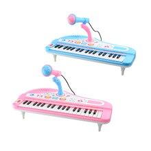 цена Children'S Musical Instruments Children'S 37-Key Plug-In Microphone With Microphone Multi-Function Music Piano Toy Early Child онлайн в 2017 году