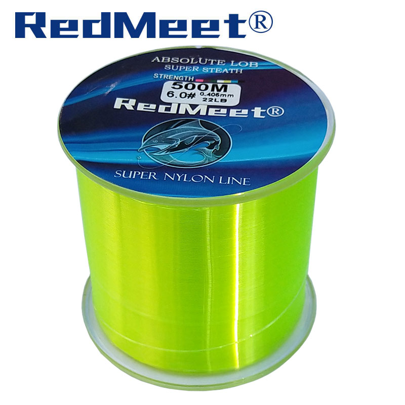 RedMeet 1.0#-8.0# 500M Monofilament Line Japan material Nylon Fishing Lines For Carp Fishing Accessories Pesca Super Strong