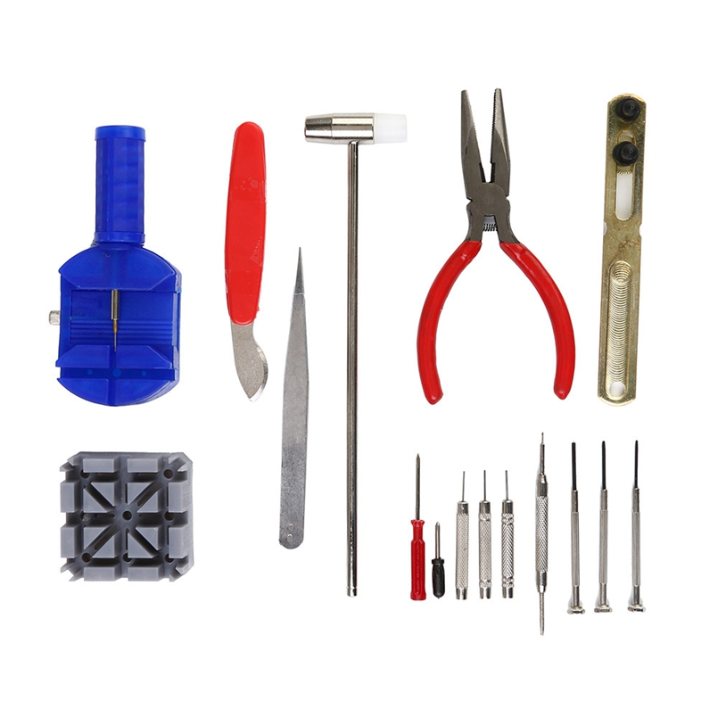 New Arrive 16 Pcs Watch Repair Tools Kit Watch Band Link Pin Universal Back Remover Tool