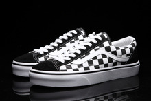 VANS retro 50th Anniversary Old Skool OG 1977 Style 36 checkerboard unisex shoes for men and women os skateboarding sneakers