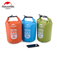 NatureHike 2L 5L High Quality Outdoor Waterproof Bags Ultralight Camping Hiking Dry Organizers Drifting Kayaking Swimming