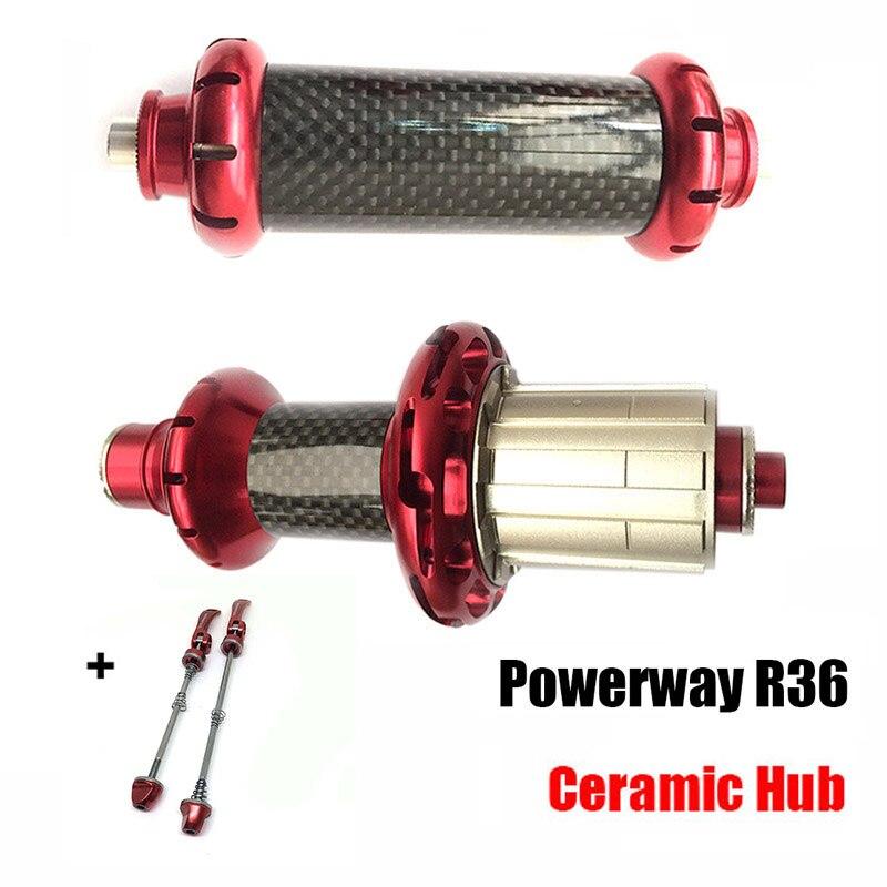 Moyeu de disque en aluminium Powerway R36 pour SHIMAN0 ou Campy 11 S, 20/24 H