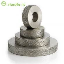 цена на Resin bond diamond abrasive grinding wheel for tungsten steel size D75*T8*H20*X5 150# JGS0101