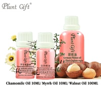 Moisturizing, Hydrating, Anti Sensitive, Acne Scars 100% Natural Chamomile Pure Essential / Myrrh / Walnut Oil 10ml