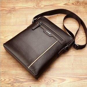 Image 5 - Man Leather Bag VORMOR Brand Shoulder Crossbody Bags PU Leather Male iPad Business Messenger Bag Briefcase For Men