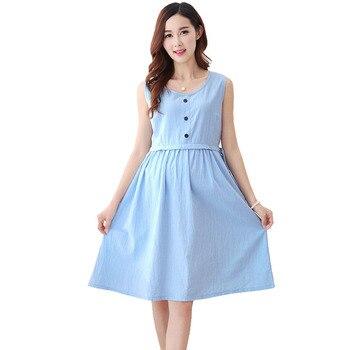 3cba2ccd4 Vestidos de Enfermería de maternidad ropa de lactancia para las mujeres  embarazadas Vestido embarazo alimentación ropa Robe Grossesse