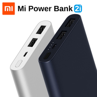 Original Xiaomi Mi Power Bank 2i 10000mAh Portable External Battery Dual USB Port PLM09ZM 18W Quick Charge Powerbank For Phone