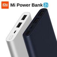 Original Xiaomi Mi Power Bank 2i 10000mAh Portable External Battery Dual USB Port PLM09ZM 18W Quick Charge Powerbank For Phone