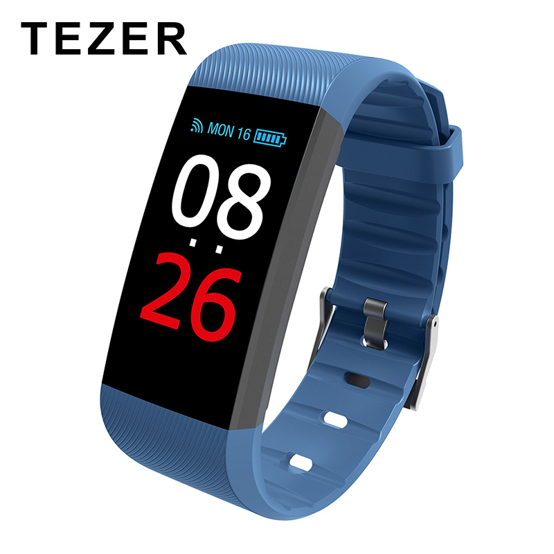 TEZER New Fitness Tracker K1 Smart Bracelet Real-time Heart Rate Monitor down to sec Charging 2 hours Useing 1 weeks R11