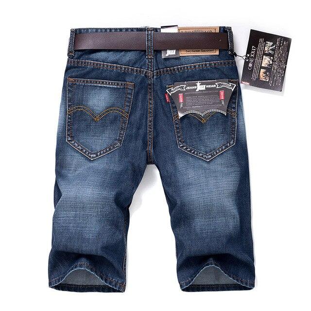 Мужская хлопок тонкий джинсовые шорты Новая мода лето мужской Случайные короткие джинсы Мягкие и удобные повседневные шорты Размер 28-40