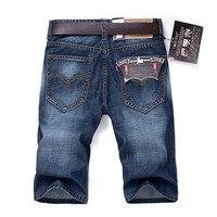 Men S Solid Color Cotton Denim Shorts New Summer Men Casual Shorts Size 28 38