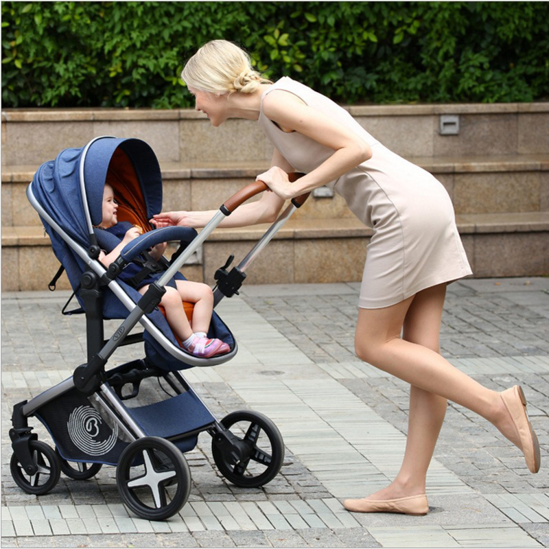2018 New baby stroller for newborns 2 in 1 folding baby carriage can sit can sleep baby pram for chilrend 0-4 year old все цены