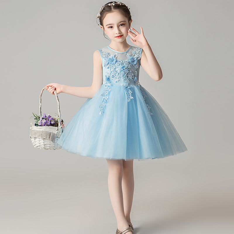 b37dc3798 JaneyGao flor chica vestidos para boda fiesta ChildrenTulle vestido Formal  concurso princesa vestidos de primera comunión blanco 2019 en Vestidos de  flores ...