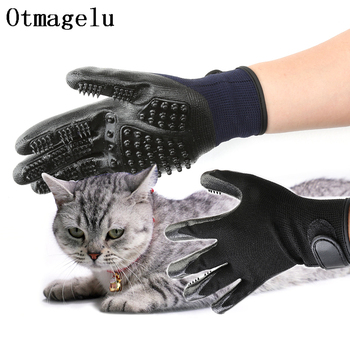 1 Pair Silicone Pet Grooming Gloves Dog Cat Hair Cleaning Brush Shower Comb Dog Bath Pet Massage Gloves Pet Shop Dog Accessories