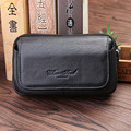 Fashion Men Genuine Leather Business Waist Bag Cowhide Case 6 Inch Mobile Cell Phone Purse Pocket Designer Bum Belt Fanny Pack