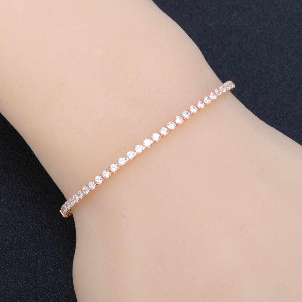 2019 nowych moda damska kryształ Rhinestone złoto srebrne bransoletki bransoletka biżuteria regulowany łańcuszek bransoletka kobiety biżuteria Bijoux