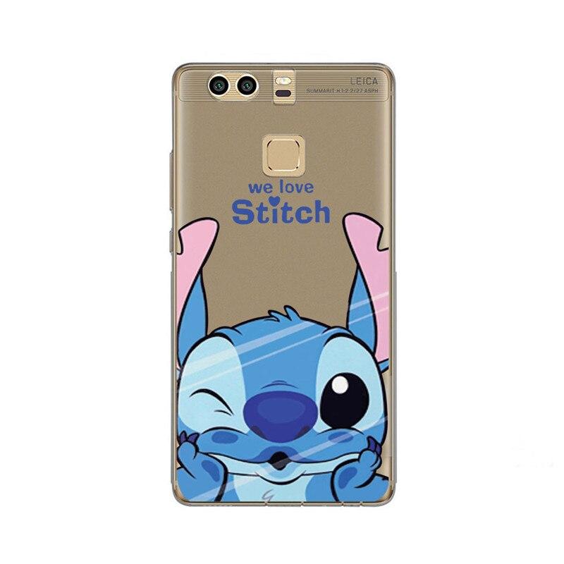 Phone Case For Huawei P8 Lite P10 Lite P10 Plus Mate 10 Y5 Honor 9 6C 6X 8 Lite Cute Minnie Daisy Stitch Cases Covers