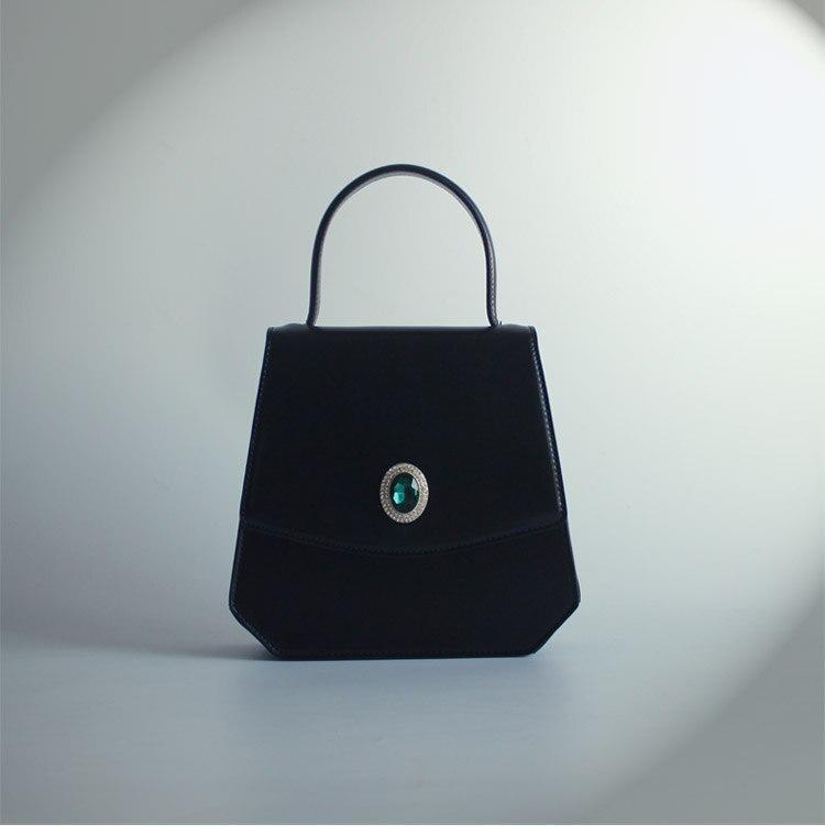 Conception Unique de concepteur Vintage femmes diamants noir sacs à main dame PU en cuir Messenger épaule Mini sac OL sacs sac à bandoulière - 2